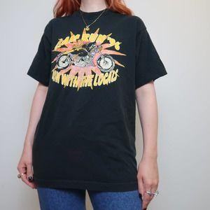 Vintage 90s black motorcycle race t-shirt